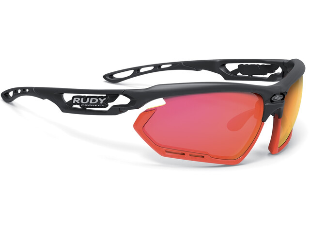 Rudy Project Fotonyk Brille matte black/red fluo/polar3FX HDR multilaser red